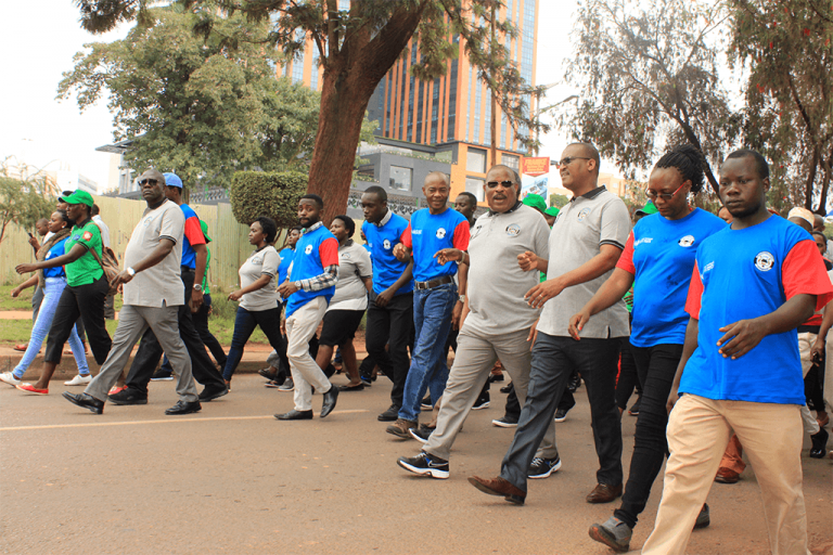 Guests marching during UN Day Against Torture 2019