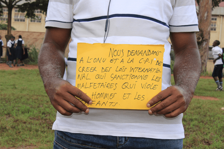 Participant showing his message