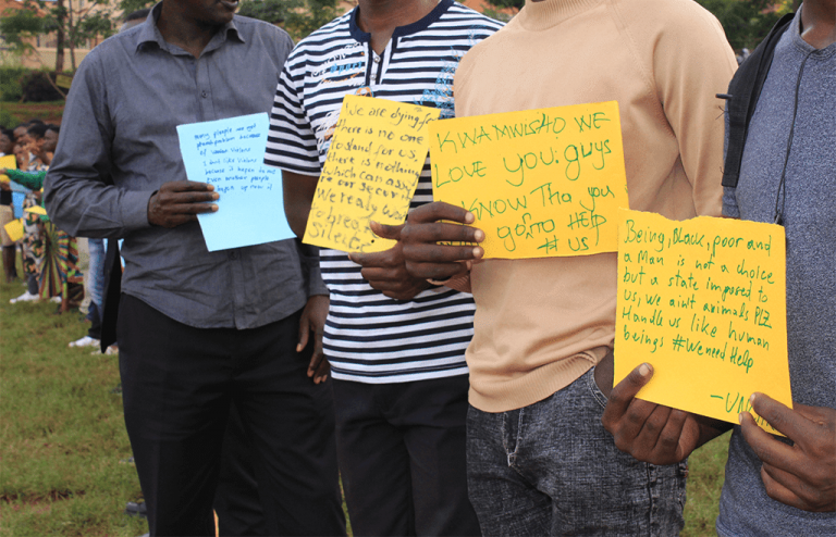 Participants showing their messages2